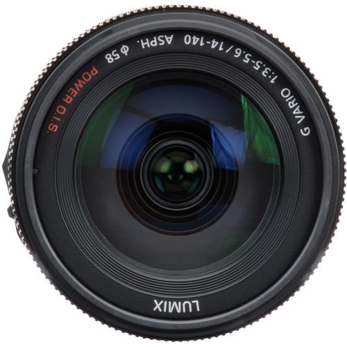 دوربین پاناسونیک لومیکس Panasonic LUMIX GH4 Mirrorless Camera +  Panasonic LUMIX G VARIO 14-140mm f/3.5-5.6 OIS Lens+ Cleaning Cloth + Camera Case Bag with Carabiner for Panasonic Lumix DMC-GX8 GX 8 with 14-140mm Digital Camera