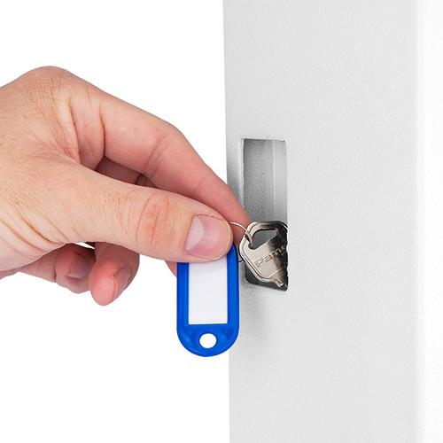 White AX12658 BARSKA 48 Key Digital Wall Key Safe