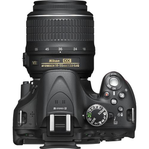Nikon D5200 Dslr Camera With 18 55mm And 55 200mm Lenses Black
