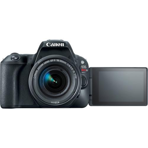 Canon SL2 EOS Rebel DSLR Camera with 18-55mm Lens (SL2 Black)