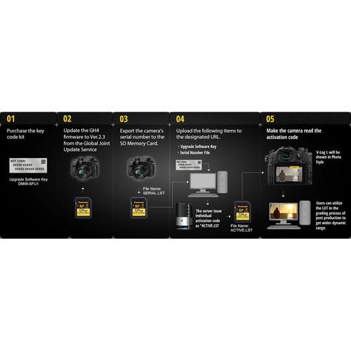 Panasonic V-Log L Function Activation Code for DMC-GH4, DC-GH5, and  DMC-FZ2500