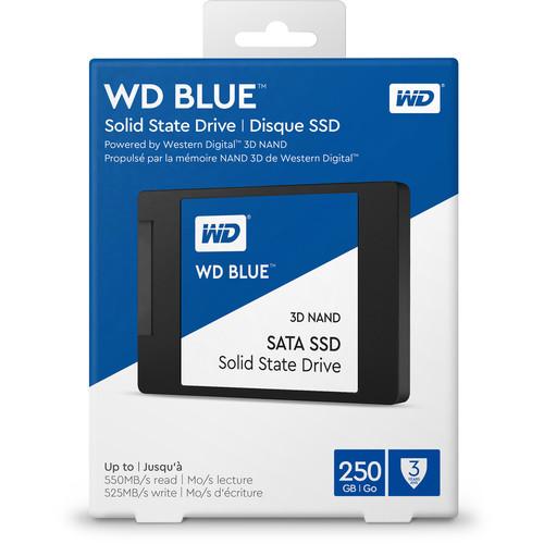 "WD 250GB Azul 3D NAND SATA III 2.5 ""SSD interno"