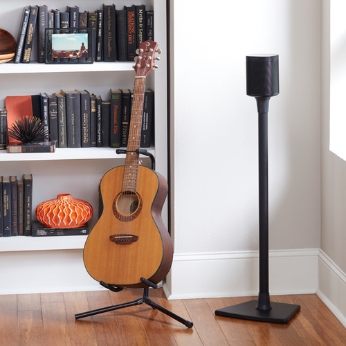 SANUS WSS21 Wireless Speaker Stand for the Sonos One, PLAY:1 & PLAY:3 (Black, Single)