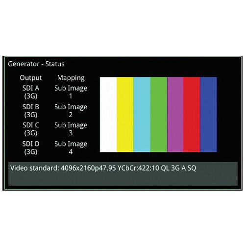 PHABRIX Qx UHDTV Rasterizer with 3G IP/SDI Analyzer and Real-Time Eye (1/2  Rack, 1 RU)