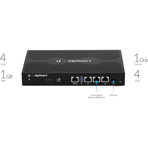 Ubiquiti Networks ER-4 EdgeRouter de 4 puertos con tecnología EdgeMAX