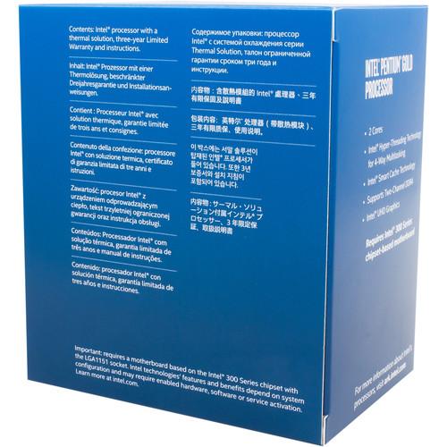 Procesador Intel Pentium G5400 a 3,7 GHz de doble núcleo LGA 1151 (minorista)