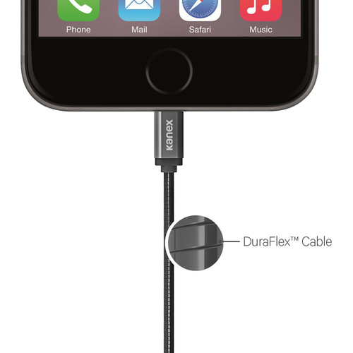 Kanex Premium Duraflex Lightning Cable for Smartphones Matte Black