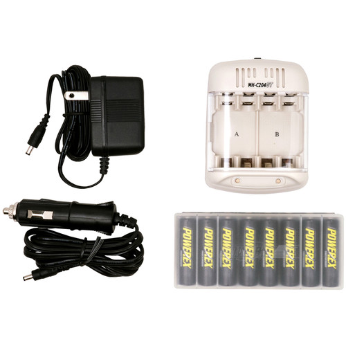 8-Pk Powerex Smart Charger with Rechargeable AA NiMH Batteries