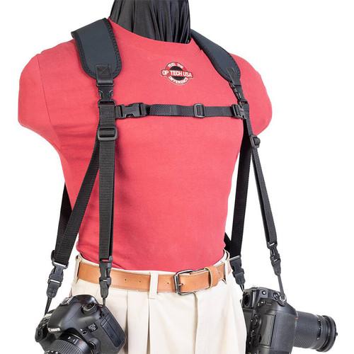 OP/TECH USA Dual Harness Uni-Loop Version (Regular, Black)