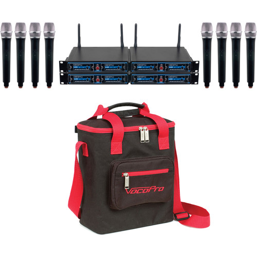 VocoPro UDH-CHOIR-8 Handheld Wireless Microphone Package