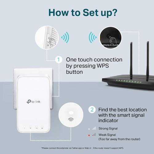 TP-Link RE300 AC1200 Mesh Wi-Fi Range Extender