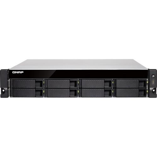 QNAP Intel Xeon E-2124 4 Cores/4 Threads 3.3 GHz Processor -8GB DDR4 ECC RAM - Redundant Power Supply