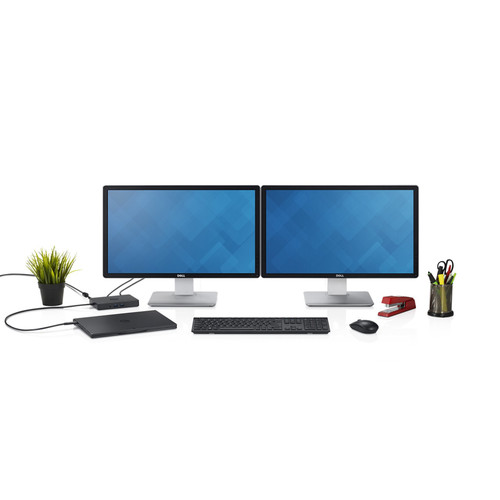 Estación de acoplamiento empresarial Dell WD15 con adaptador de 180 W