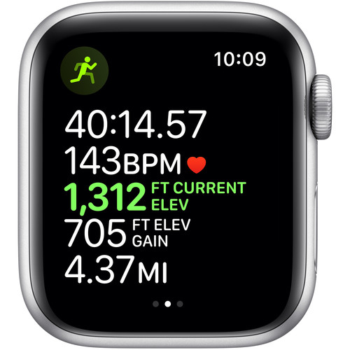 Apple Watch Series 5 (Nike+/GPS Only, 40mm, Silver Aluminum, Pure Platinum/Black Nike Sport Band)