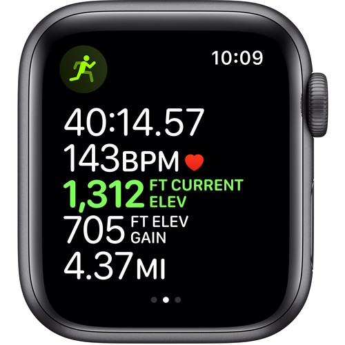 Apple Watch Series 5 (GPS + Cell, 40mm, Space Gray Aluminum, Black Sport Band)