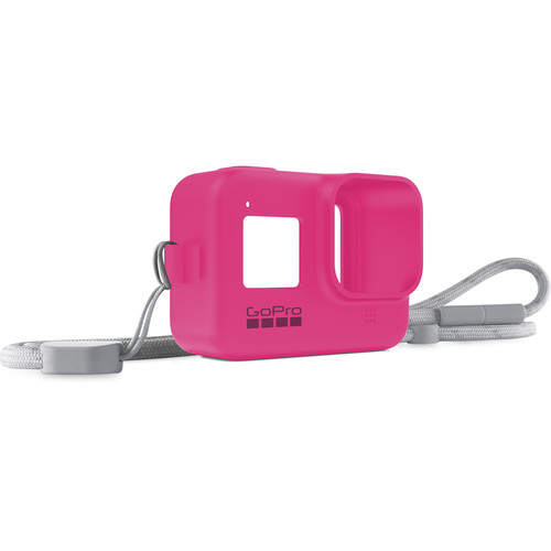 GoPro Silicone Sleeve and Adjustable Lanyard Kit for GoPro HERO8 (Electric Pink)