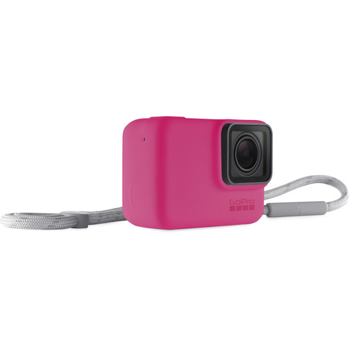 GoPro Silicone Sleeve and Adjustable Lanyard Kit for GoPro HERO5/6/7 (Electric Pink)