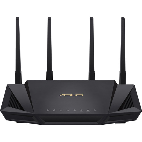 Asus RT-AX3000 Wireless Dual Band 4-Port Gigabit Router, WiFi 6, 802.11ax, USB 3.0, MU-MIMO, OFDMA, VPN