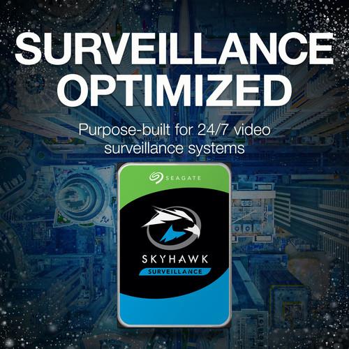 """Seagate 12TB SkyHawk AI 7200 rpm SATA III 3.5 """"Unidad de disco duro de vigilancia interna"""
