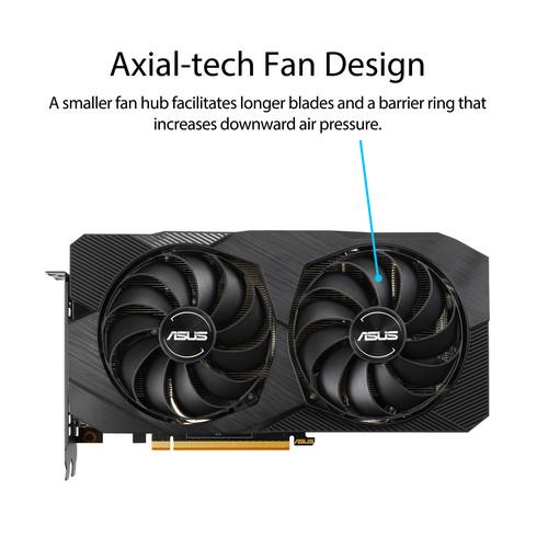 Tarjeta gráfica ASUS Dual Radeon RX 5500 XT EVO OC