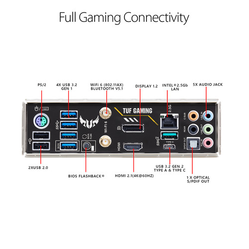 Placa madre ASUS TUF Gaming B550M-PLUS Wi-Fi AM4 Micro-ATX