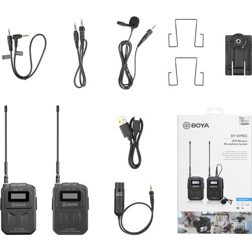 BOYA BY-WM6S Camera-Mount Wireless Omni Lavalier Microphone System (556 to 576 MHz)