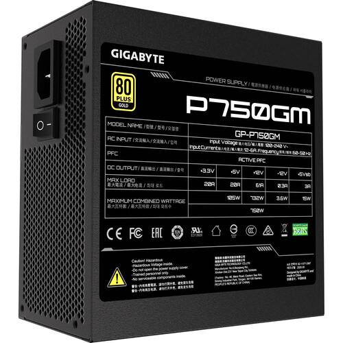 Fuente de alimentación modular Gigabyte GP-P750GM 750W 80 PLUS Gold