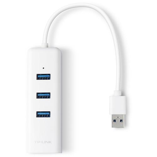TP-Link UE330 Hub USB 3.0 tipo A de 3 puertos con adaptador Gigabit Ethernet