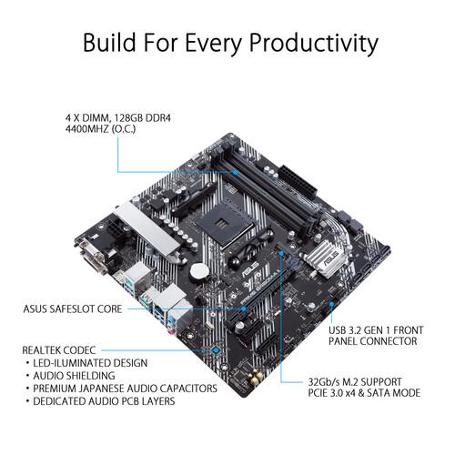 Placa madre ASUS Prime B450M-A II AM4 Micro-ATX