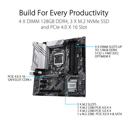 Placa madre ASUS Prime Z590M-PLUS LGA 1200 Micro ATX