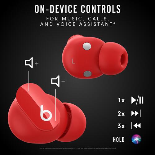 Beats by Dr. Dre Studio Buds Noise-Canceling True Wireless In-Ear Headphones (Red)