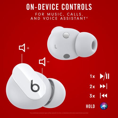 Beats by Dr. Dre Studio Buds Noise-Canceling True Wireless In-Ear Headphones (White)