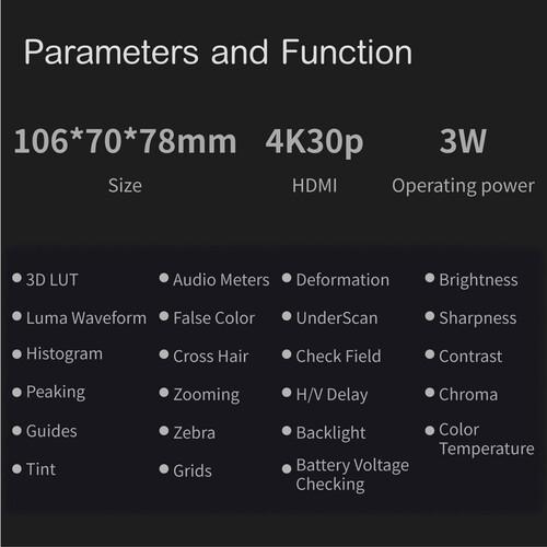 Portkeys LEYE HDMI 2.4吋 LCD電子監視器