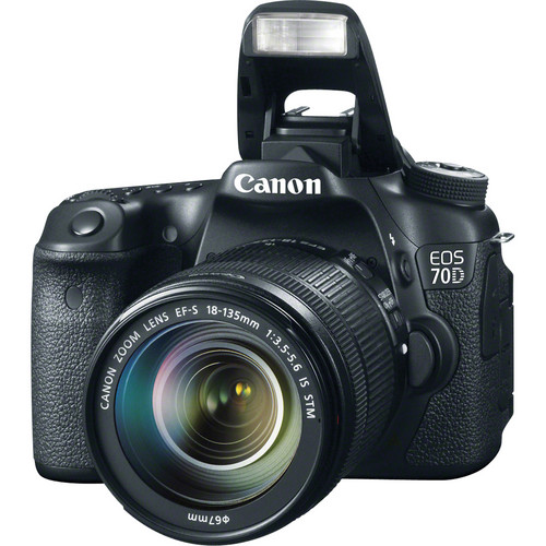 Canon EOS 70D DSLR Camera with 18-135mm f/3.5-5.6 Lens