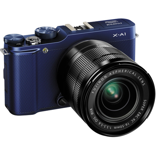 Fujifilm X-A1 Mirrorless Digital Camera with 16-50mm Lens (Indigo Blue)