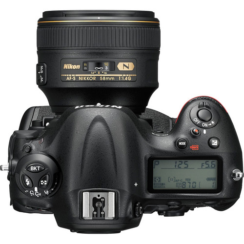 Nikon D4S DSLR Camera (Top View)