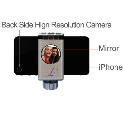 Integrated Mirror lets you use the high resolution side of your phone camera instead of the low-resolution selfie camera