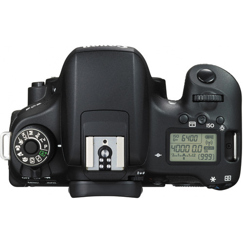 Canon EOS Rebel T6s DSLR Camera - Top View (LCD is exclusive to the T6s)