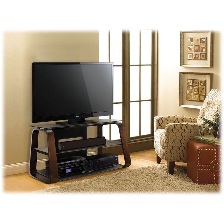 Bell'O Curved Wood Flat Panel Audio/Video System CW349 B&H Photo