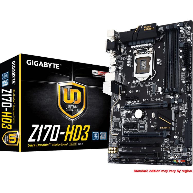 Gigabyte GA-Z170-HD3 Motherboard (rev  1 0)