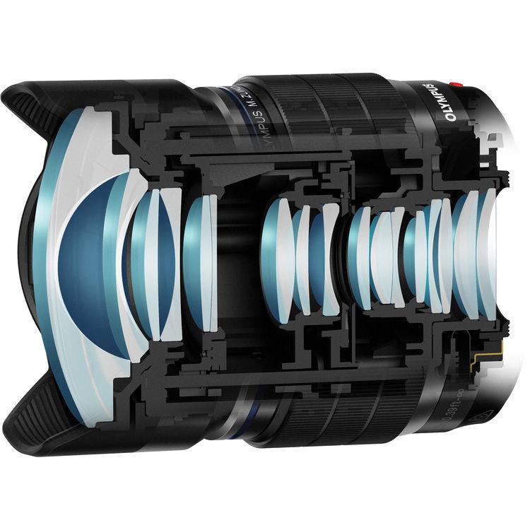 geeignet f/ür M. Zuiko Digital ED 8 mm 1:1.8 Fisheye Pro Olympus LC-62E Objektivdeckel