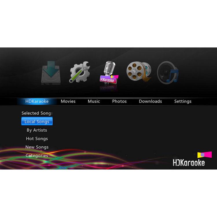 HD Karaoke HDK Box 2 0 Internet-Enabled Streaming Karaoke Player with  Microphone