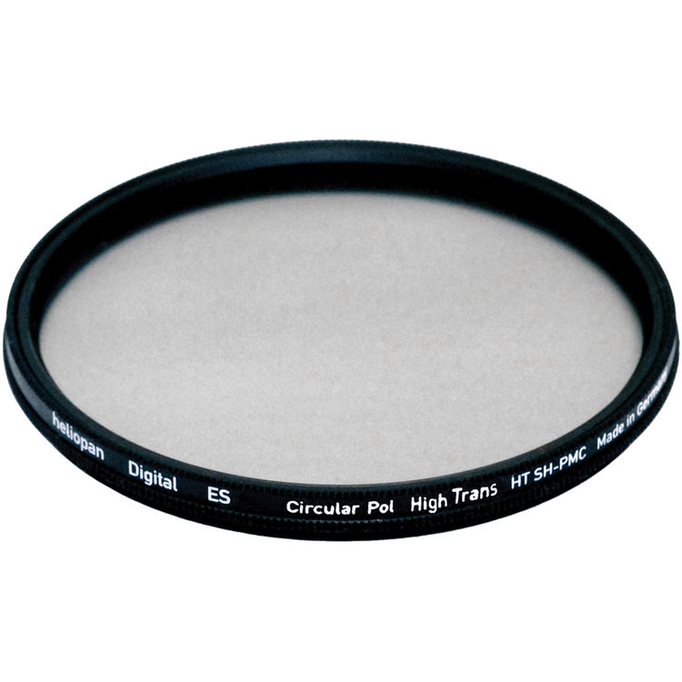 707761 Heliopan 77mm High Transmission Circular Polarizer SH-PMC Filter with specialty Schott glass in floating brass ring