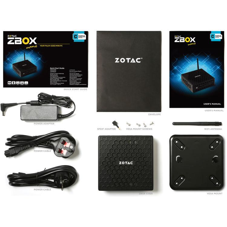 ZOTAC C Series ZBOX CI325 Nano PC with Windows 10 Operating System