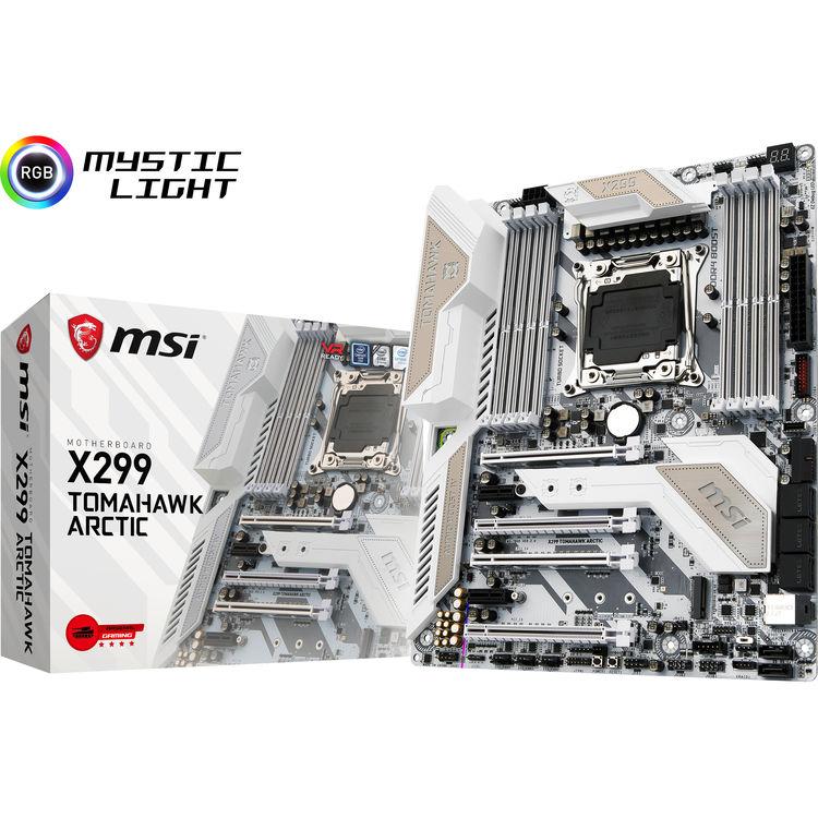 MSI X299 Tomahawk Arctic LGA 2066 ATX Motherboard