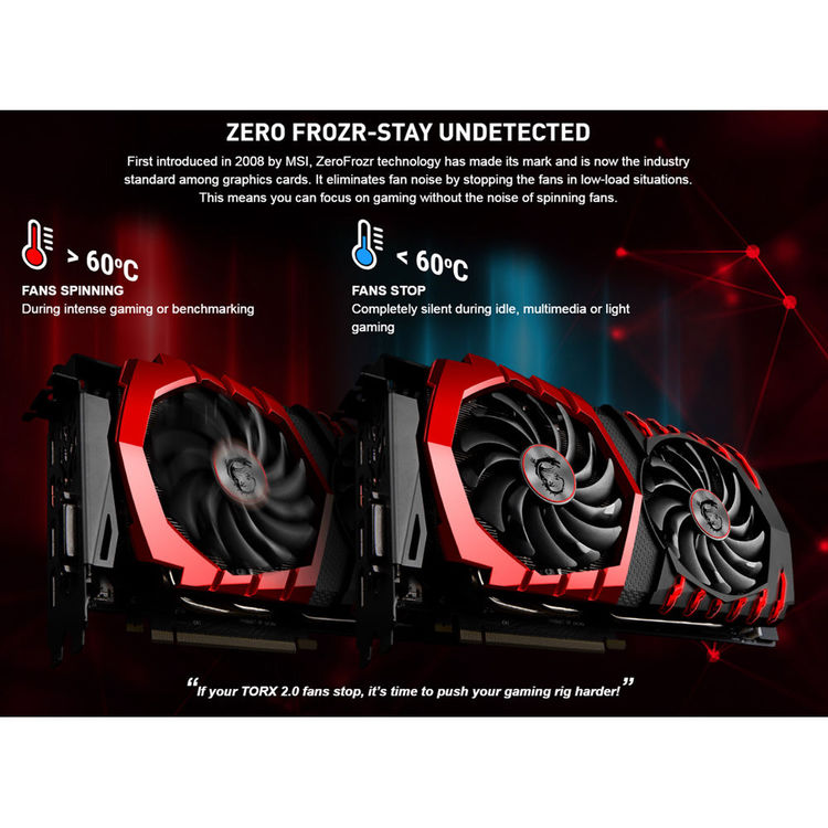 MSI GeForce GTX 1060 GAMING X 6G Graphics Card