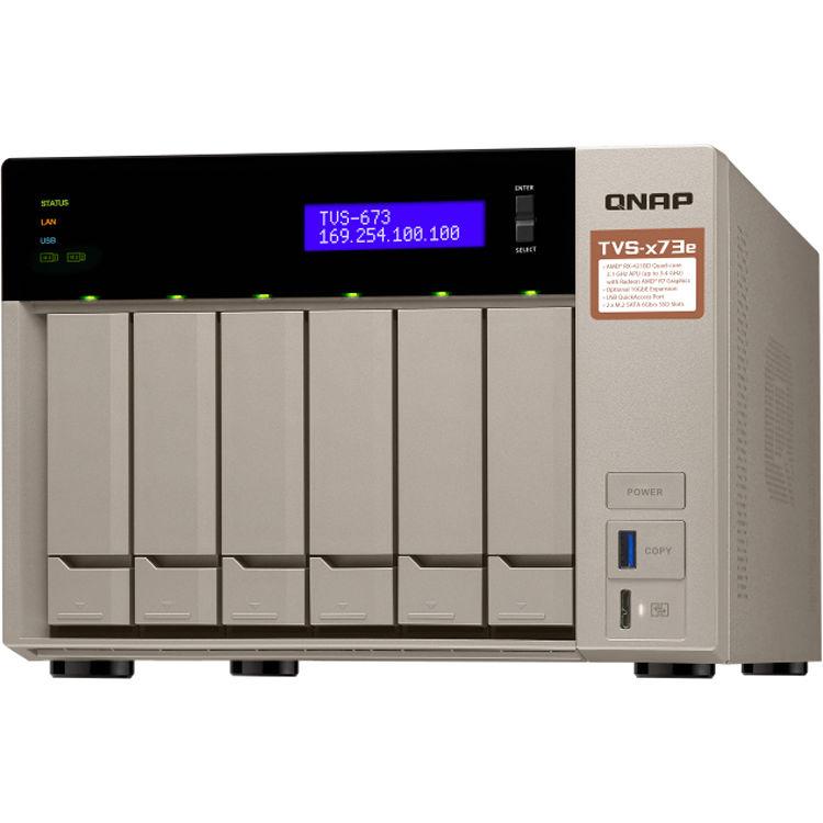 QNAP TVS-673E-4G 6-Bay NAS Server