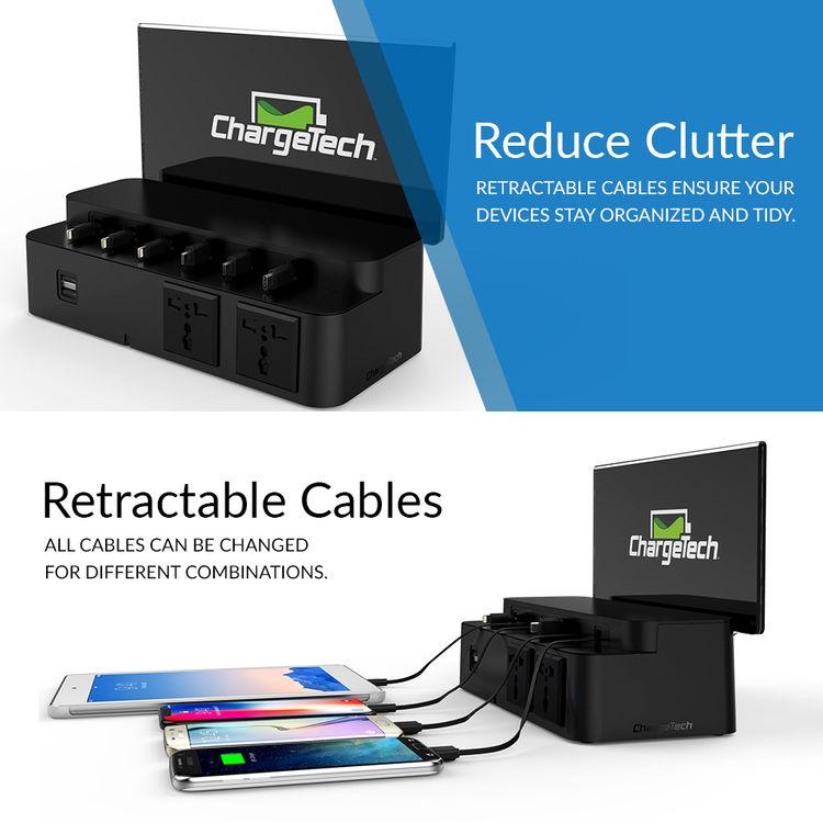 cc1b954d6f6 chargetech CS8 10-Device Power Strip Desktop Charging Station