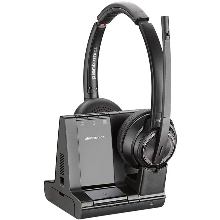 Plantronics Savi 8220 Wireless Dect Headset System 207325 01 B H