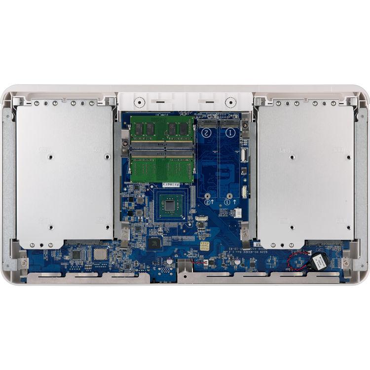 QNAP HS-453DX Fanless 10Gb/s Multimedia NAS Enclosure (8GB)